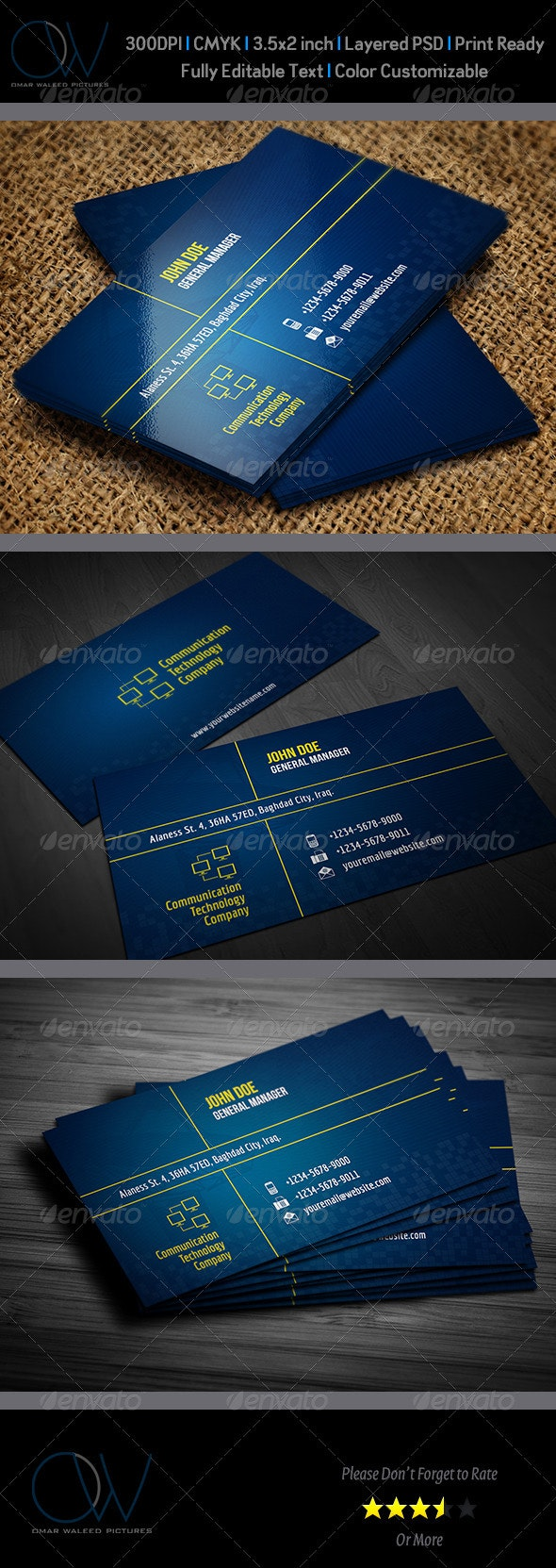 Communication Technology Business Card - Creative Business Cards
