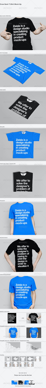 Crew Neck T-Shirt Mock-Up - T-shirts Apparel