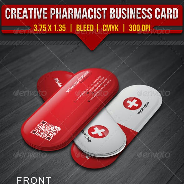 Creative Pharmacist Business Card