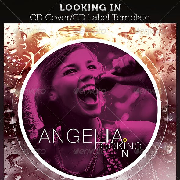 Looking In: CD Cover Artwork Template