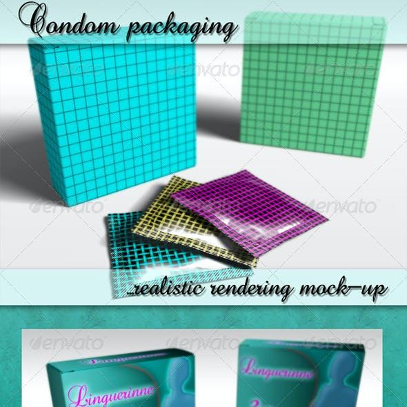 Photorealistic Condom Mockup