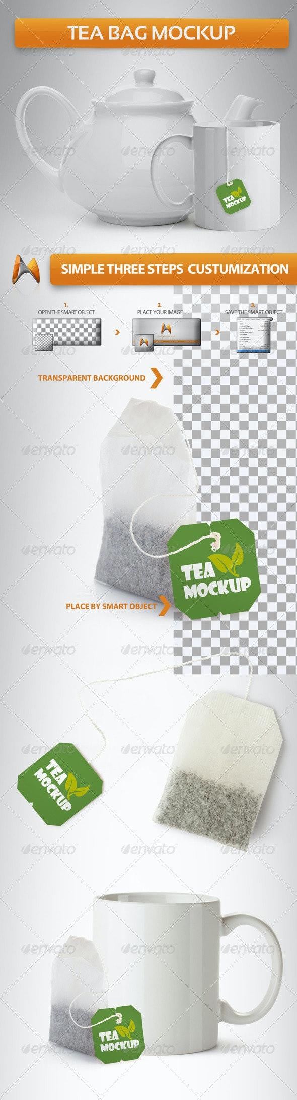 Tea Bag Mockup - Food and Drink Packaging