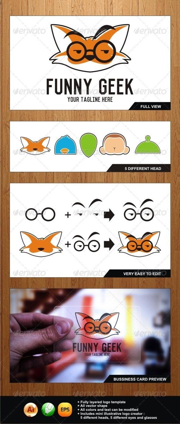 Funny Geek - Illustrative Logo for Geek Lovers - Objects Logo Templates