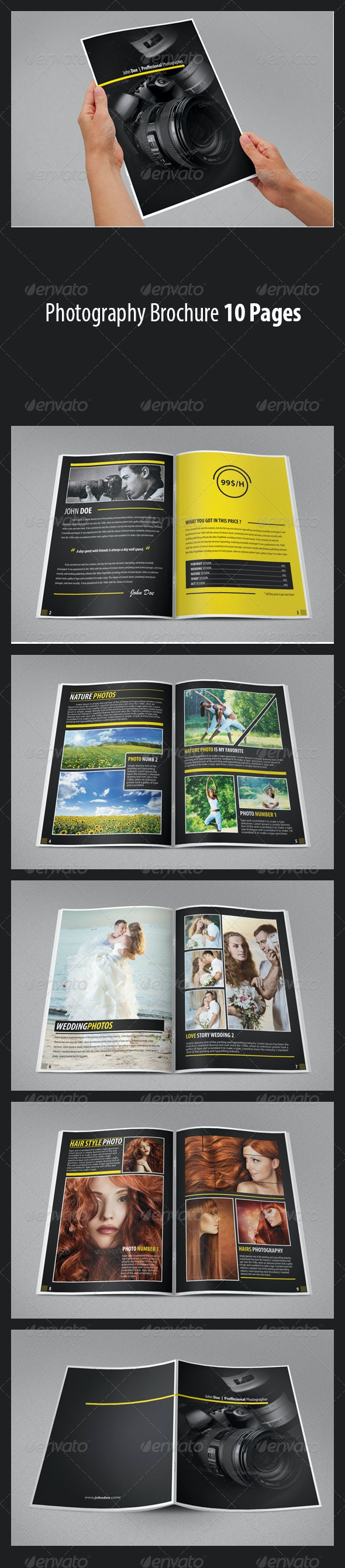 Photography Brochure Photography Portfolio - Catalogs Brochures