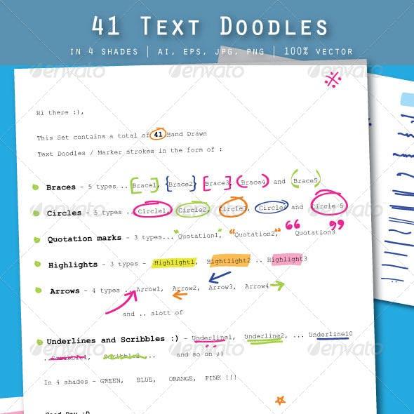 41 Text Doodles