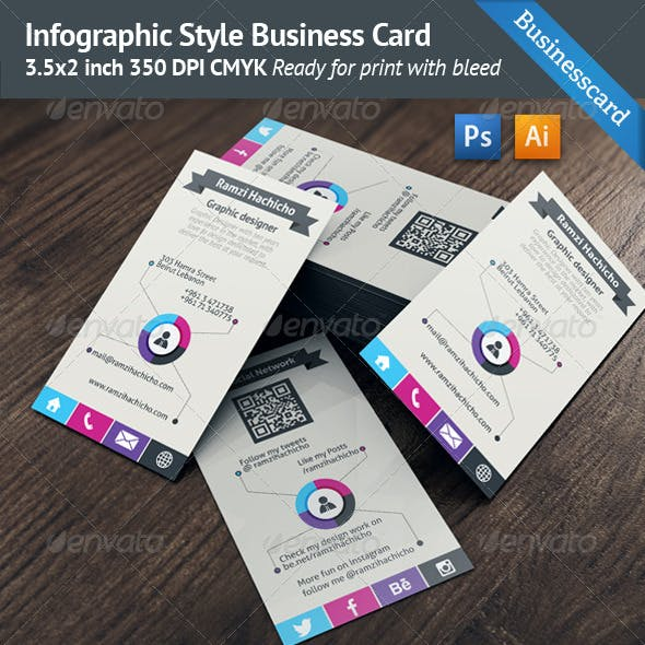 Infographic Style Business Card Template