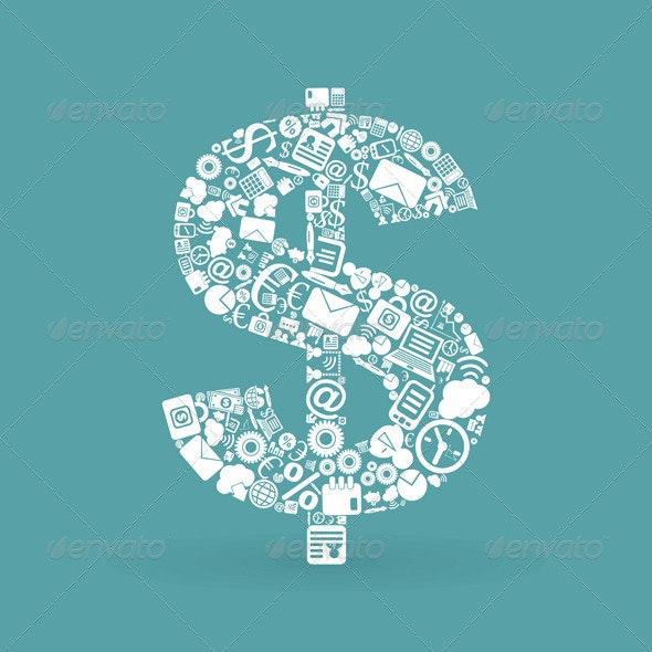 Business dollar - Business Conceptual