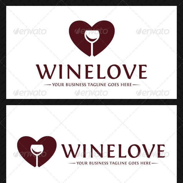 Wine Love Logo Template