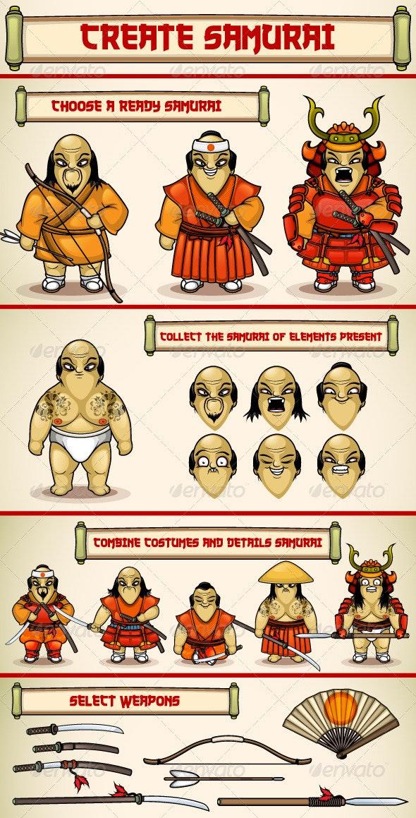 Create a Samurai - Characters Vectors