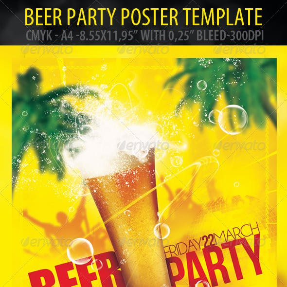 Beer Party Poster & Flyer Template