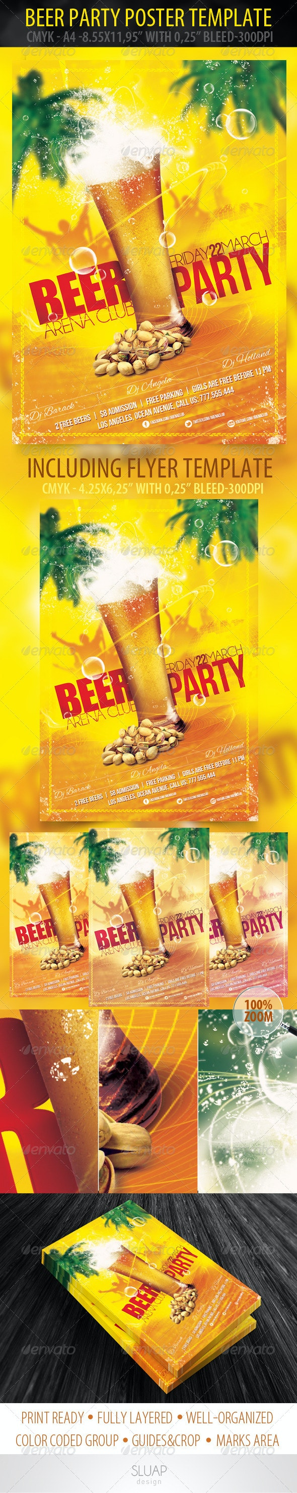 Beer Party Poster & Flyer Template - Events Flyers