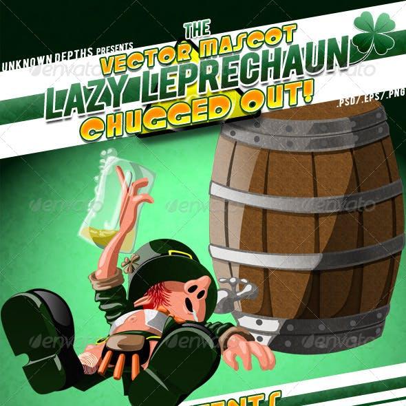 Lazy Leprechaun - Chugged Out!!! Mascot