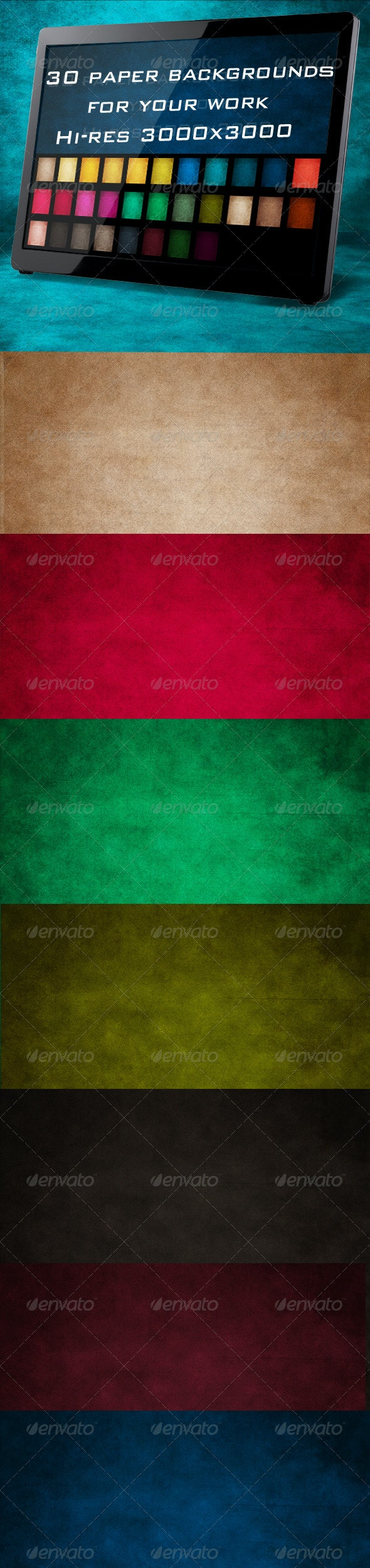 30 Paper Backgrounds - Miscellaneous Backgrounds
