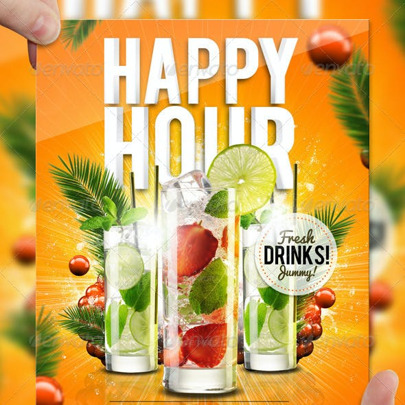 Drink Promotion Flyer Template A5