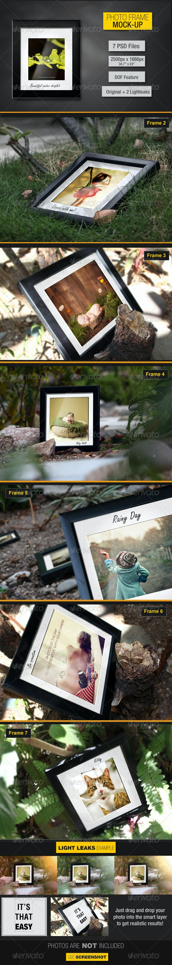 Photo Frames Mockup V1 - Photo Templates Graphics