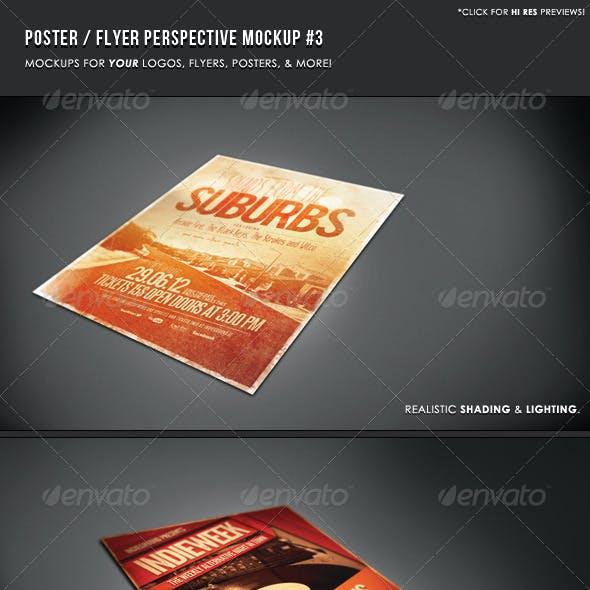 Poster & Flyer Perspective Mockup #3