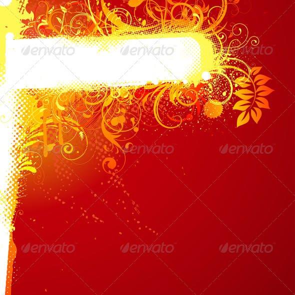 Floral Decorative Banner