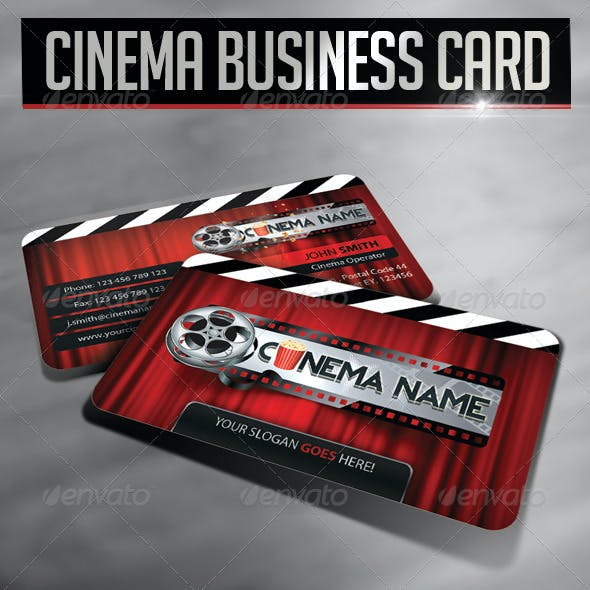 Cinema Business Card Template