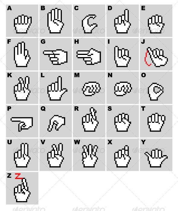 Sign Language Hand Cursors