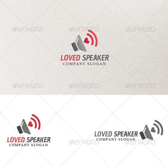 Loved Speaker - Logo Template - Objects Logo Templates