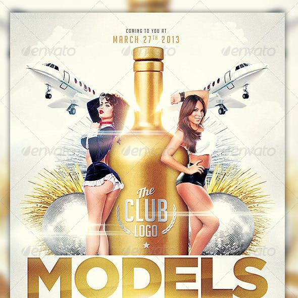 Models And Bottles Flyer Template Vol.2