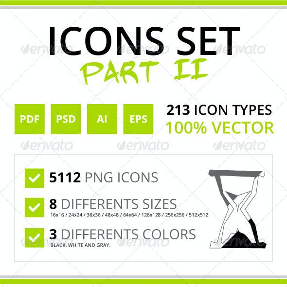 213 Rough Icons (Icons Set - Part II)