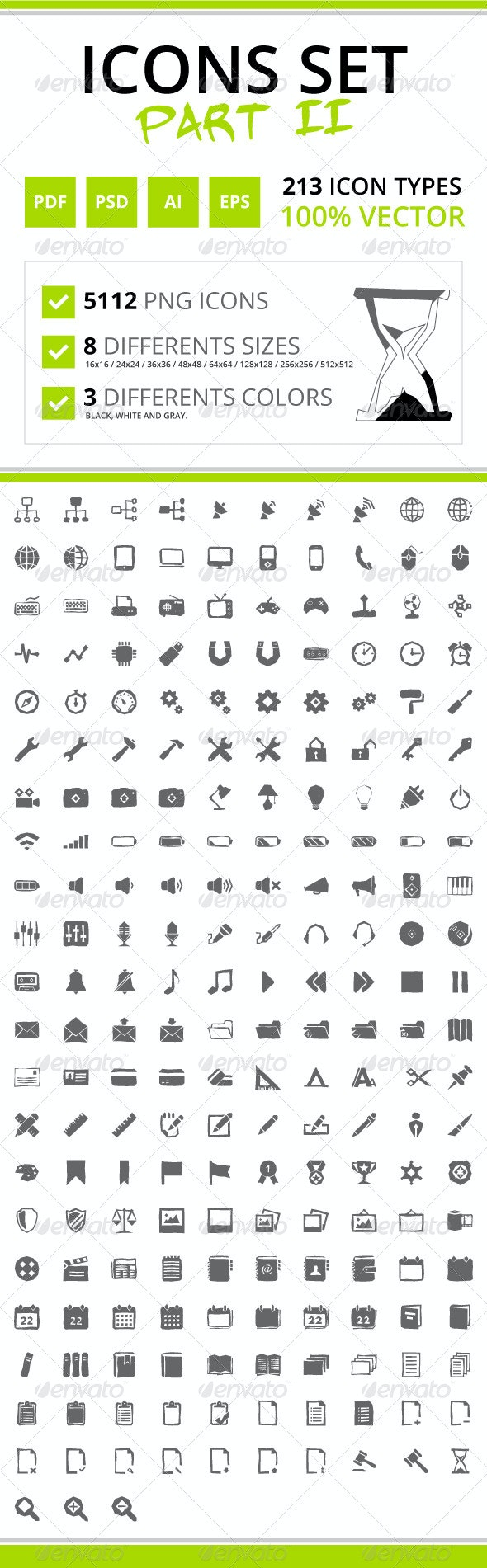 213 Rough Icons (Icons Set - Part II) - Web Icons