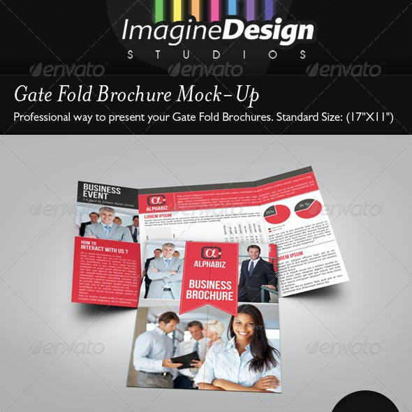 Gate Fold Brochure Mock-Up