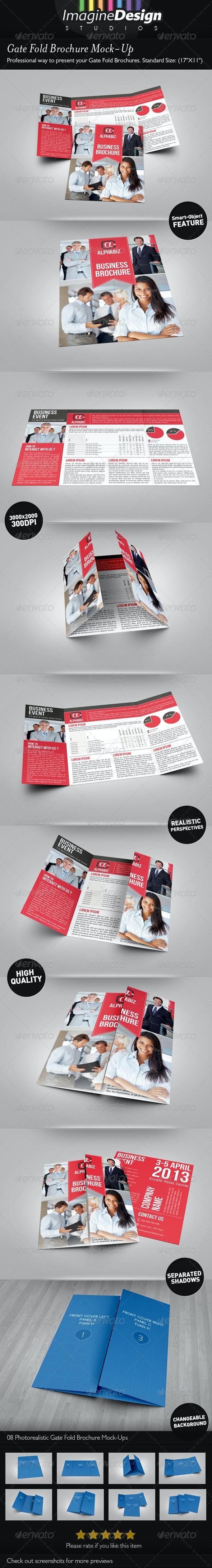 Gate Fold Brochure Mock-Up - Brochures Print