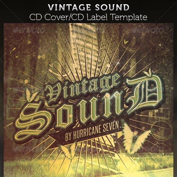 Vintage Sound CD Cover Artwork Template