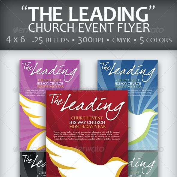 """""""The Leading"""" Church Event Flyer"""