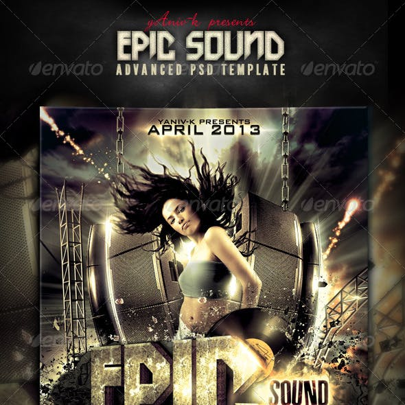 Epic Sound Flyer Template