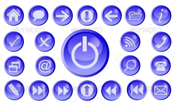 Vector icon set for web. - Web Technology