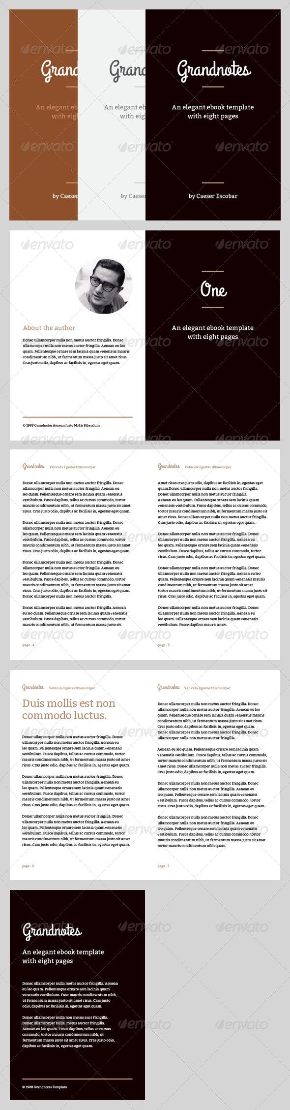 Grandnotes - eBook Template or Print Book - Miscellaneous Print Templates