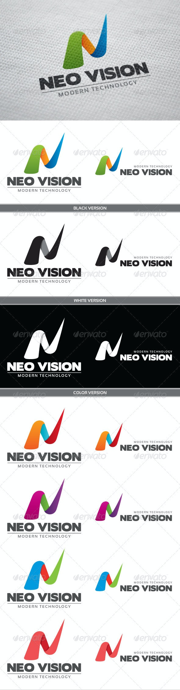 Neo Vision Logo - Letters Logo Templates