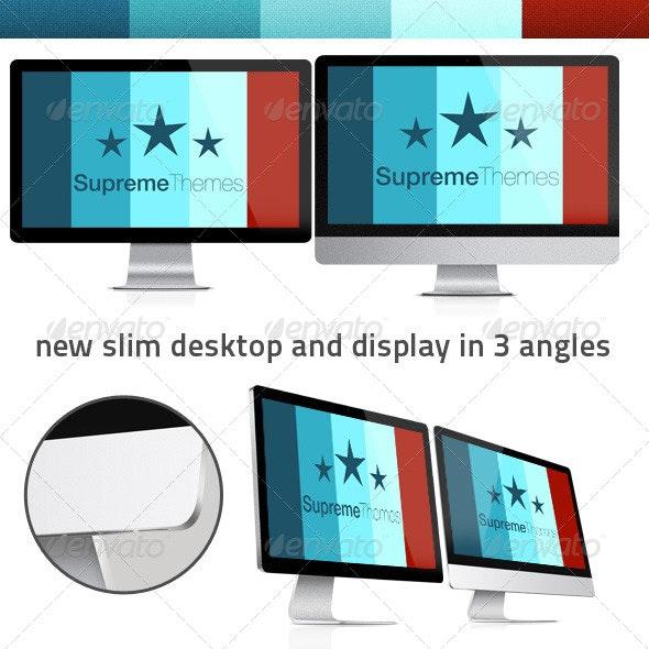 New Thin Mac and Display - Monitors Displays