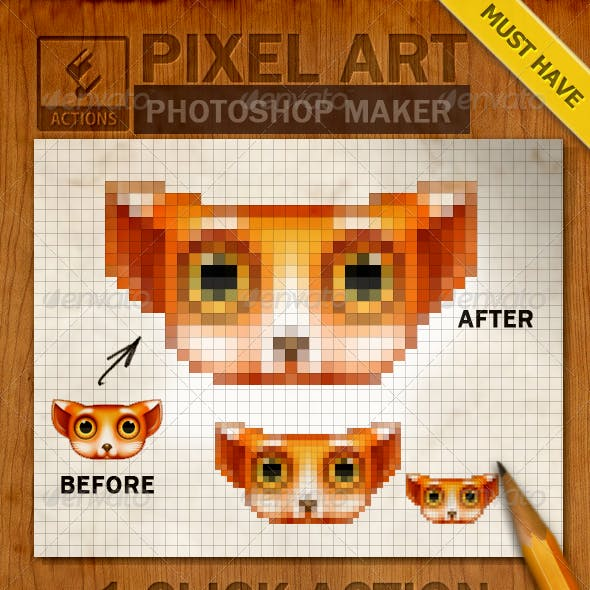 Pixel Art Graphics, Designs & Templates from GraphicRiver