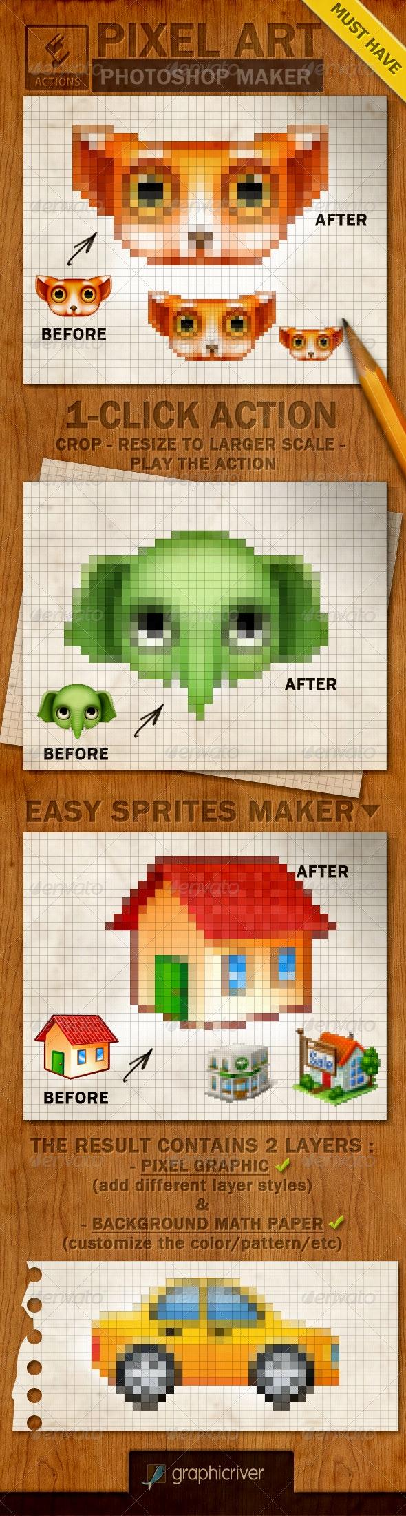 Pixel Art Creator Photoshop Action