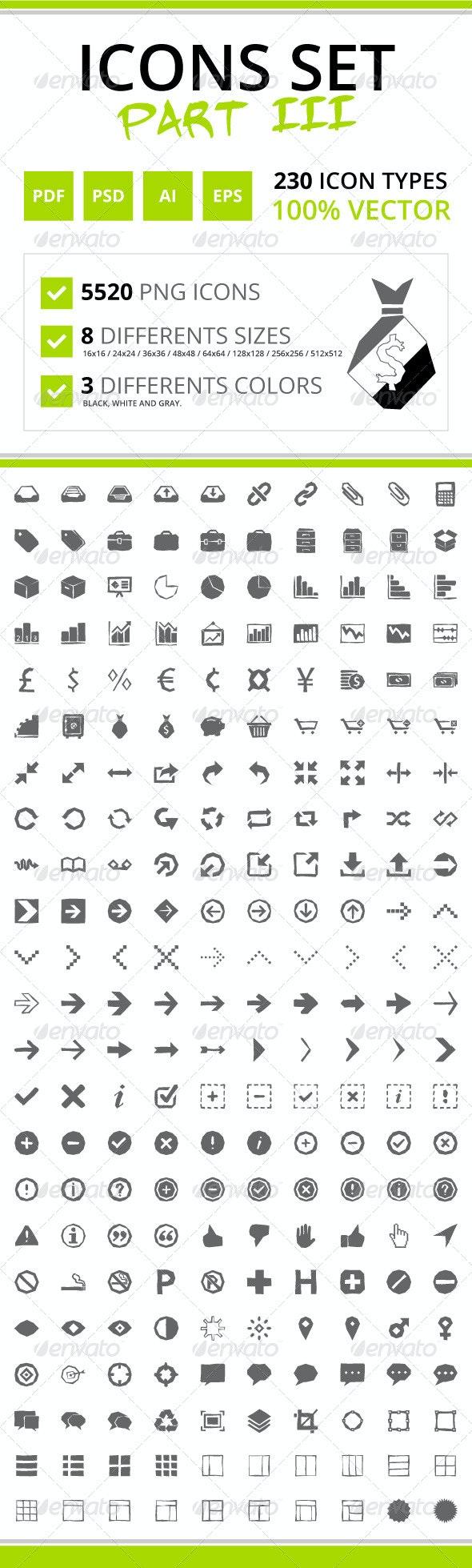 230 Rough Icons (Icons Set - Part III) - Web Icons