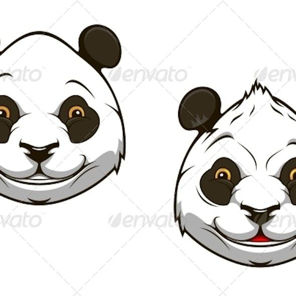 Funny chinese panda bear mascot