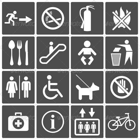 International Service Signs - Web Elements Vectors