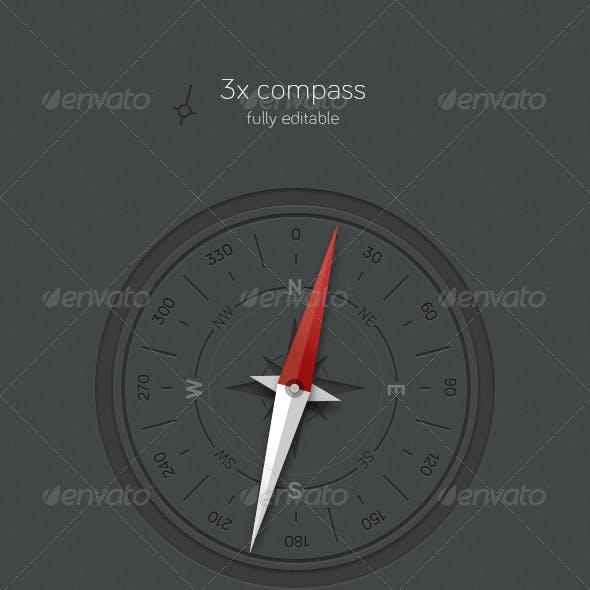 3x Compass