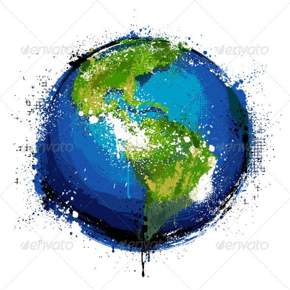 Grungy Globe