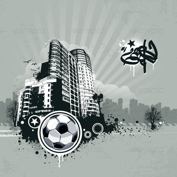 Grunge Urban Soccer Background