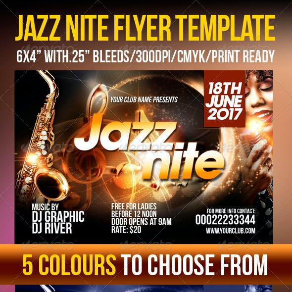 Jazz Nite Flyer Template