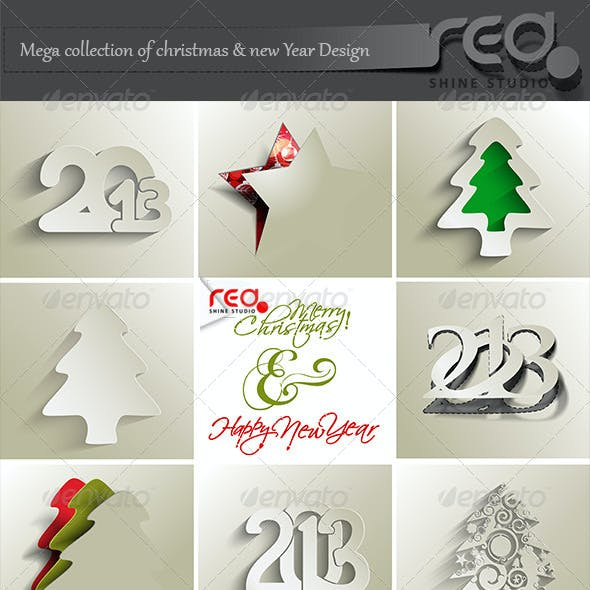 Mega Collection of Christmas & New Year Design.