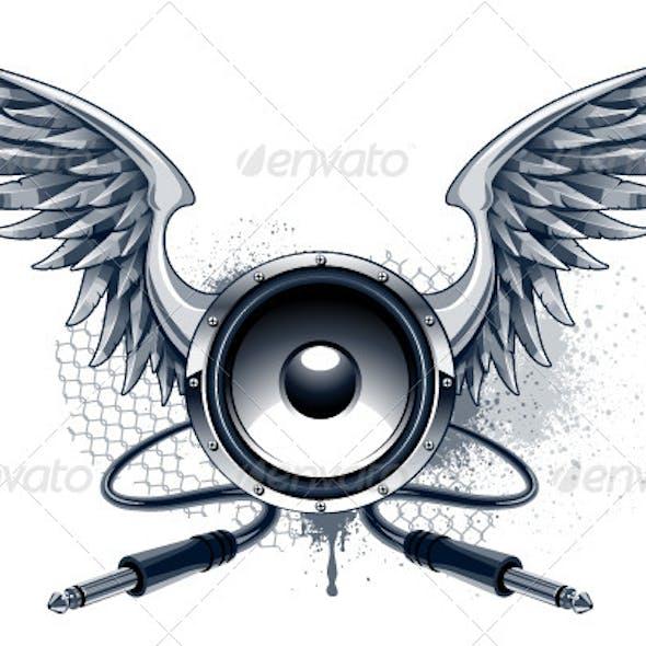 Musical Grunge Image