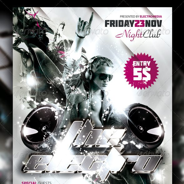 Electro Night Club Party Flyer / Poster