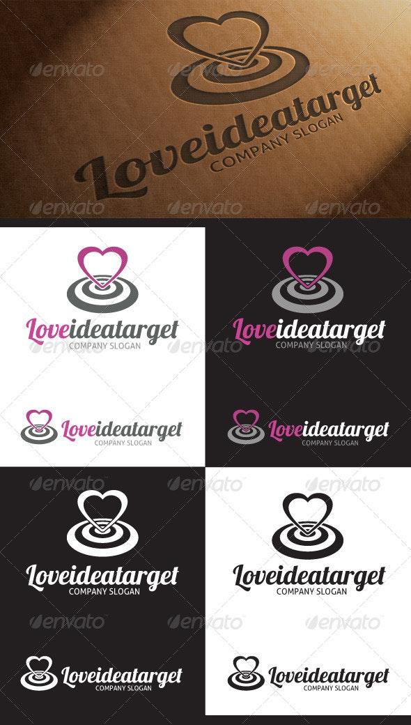 Love Target Idea Logo - Symbols Logo Templates