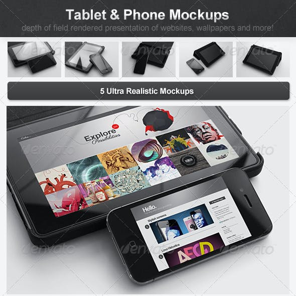 Tablet & Phone Mockups